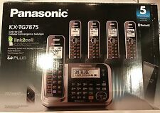 Panasonic KX-TG7875s DECT 6.0 Cordless System, Link-to-cell Bluetooth, 4-Handset