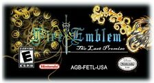 FIRE EMBLEM LAST PROMISE Nintendo Gameboy Advance GBA/SP/NDS/NDSL US Version