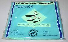"""""""DAS MICROFASER-WUNDERTUCH"""" 30 x 30 cm   ELASTISCH für Haus + Auto    neu + OVP!"""