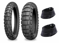 Shinko 90/90-21 & 120/90-18 804/805 Tires & Tubes Set For 00-16 Suzuki DRZ400S