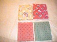 BRAND NEW PLASTIC LOT OF 4 WALLETS DIFFERENT COLORS AND DESIGNS