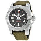 Breitling Avenger II Seawolf Automatic Grey Dial Green Fabric Mens Watch