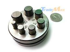 "Metal Round Disc Cutter Circle Punch Puncher 7 Die Size 1/4"" - 5/8"" Cutting Hole"