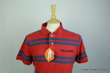 HOLLISTER MENS POLO SHIRT XL SLIM SOFT FESTIVAL URBAN SPORT STRIPED VINTAGE