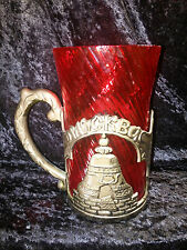 Old Vintage Russian Soviet Tea Glass Cup Holder Moscow Giant Size