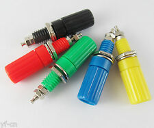 1set 5 Colors Binding Post 4mm Long Banana Jack Female Audio Power Connector