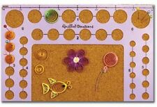 Quilled Creations Quilling Tool CIRCLE TEMPLATE BOARD Use w/Quilling kits ~ 304