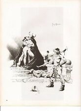 "1980 Full Color Plate ""Scetch From A Princess of Mars"" Frank Frazetta Fantastic"