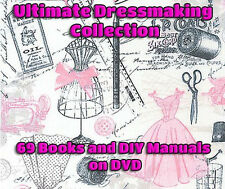 Dressmaking Tailoring Patterns Designs Sewing Fashion 69 Books Plans on DVD