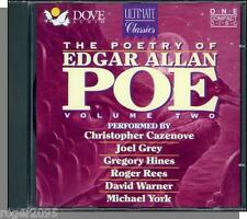 The Poetry of Edgar Allan Poe, Vol. 2 - New 27 Track CD, Read by Famous Actors!