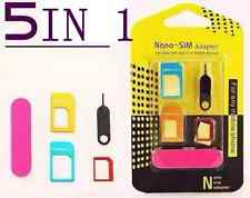 Nano SIM Card to Micro Standard Adapter Converter Set Kit Iphone Android Phone
