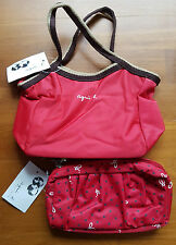 Brand New Agnes B Handbag & Sling Bag Pouch Set (Red)