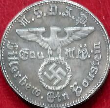 ADOLF HITLER NSDAP KAMPFSPENDE GERMAN COIN THIRD REICH  WW2