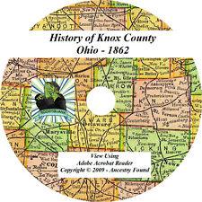 1862 History & Genealogy of KNOX County Ohio OH