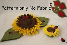 PATCHWORK / QUILTING APPLIQUE SUNFLOWER LADYBIRD SEWING TIDY PATTERN by Gail