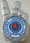 RANGERS Vintage 1970s 80s insert type badge Brooch pin in chrome 17mm x 27mm