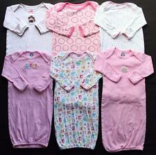 Baby Girl 100% Cotton 0/3 0/6 Months Sleep Gowns Pajama Clothes Lot Free Ship