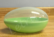 """Green Jumbo Plastic Egg Shaped Containers, 7.75"""" Easter, Big, Giant, Fillable"""