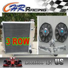 3 ROW 87-02 Jeep Wrangler YJ & TJ Aluminum Radiator w/ Chevy V8 Engine +2× fan