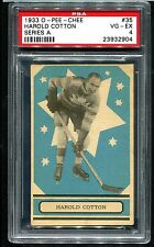 1933 OPC O-Pee-Chee HAROLD COTTON #35 RC Rookie Card  *RARE*  PSA 4 VG-EX