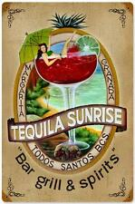 Vintage Tequila Sunrise Metal Sign Restaurant Bar Pub Tavern Wall Decor 211