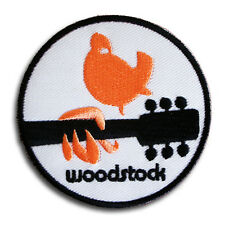 Woodstock Patch Iron on Peace Love Music Fest Dove Retro Hippie Boho Psychedelic