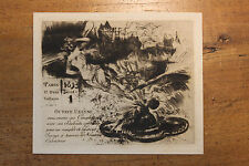 1893 Carte de voeux artistique pour Octave Uzanne par Albert Robida eau-forte