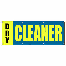 DRY CLEANER Promotion Business Sign Banner 4' x 8' w/ 8 Grommets