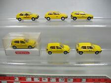 AF191-0,5# 6x Wiking H0 modèle de voiture Volkswagen VW Golf Post: 049 etc, W+1x