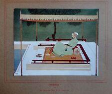 """India Meditation by Biserwar Sen,  vintage print 14 12"""" x 9"""""""
