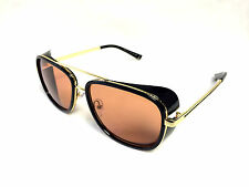 Iron Man Sunglasses Red GOLD Robert Downey JR ORIGINAL MODEL Toni Stark UV Metal