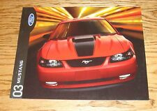 Original 2003 Ford Mustang Sales Brochure 03 Coupe Convertible GT