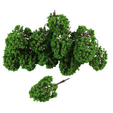 20pcs Artificial Plastic Green Leaf Model Tree ED
