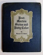 RARE Antique Embalming POST MORTEM STAINS & PUTTY COLOR Funeral Home Book ECKELS