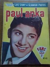 Vtg No 48 Magazine 1958 Fans Star Library Exciting Glamour Photos PAUL ANKA