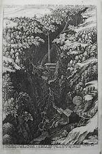 Bad Pfäfers Taminatal Tamina  Schweiz alter Merian Kupferstich  Erstausgabe 1642