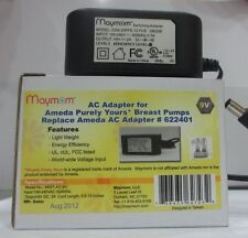 Maymom 9V AC adapter for Ameda's Purely Yours Breastpump,Replacement for 622401