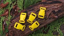 5 x 15MM 5/8 YELLOW CONTOURED QUICK RELEASE  PARACORD SURVIVAL BUSHCRAFT BUCKLES