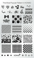 KONAD XL The Most Popular Pattern Stamping Schablone Plate Nailart