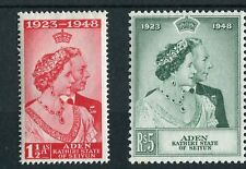 Aden Seiyun KGVI 1949 Royal Silver Wedding SG14/15 mounted mint
