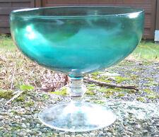 Vintage Glas grün Schale Blumenvase Gesteckschale Gesteck