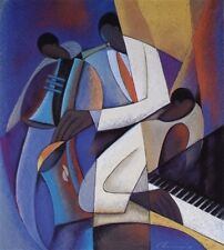 "African American Black Art Print ""PERFECT BLEND"" by Joseph Holston"