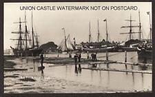 SPRY REAL PHOTO POSTCARD SAILINGSHIP LITTLEHAMPTON HARBOUR SUSSEX c1915
