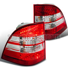1998-2005 Mercedes W163 ML-Class ML320 LED Brake Lamps Tail Lights Red/ Clear