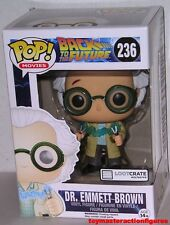 FUNKO POP MOVIES BACK TO FUTURE DR. DOC EMMETT BROWN #236 LOOTCRATE In Stock