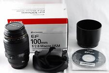 Near Mint Canon EF 100mm F/2.8 USM Macro Lens from Japan #814