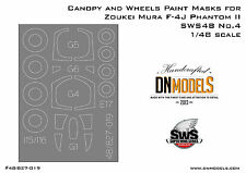 DN Models Canopy + Wheels Paint Masks for F-4J Phantom II Zoukei-Mura SWS48 No.4