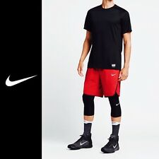 NIKE AEROSWIFT RED / BLACK BASKETBALL SHORTS 776115-657 - SIZE LARGE RRP £51.99