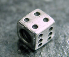 Pandora Retired Sterling Silver Lucky Dice Charm Bead #790116