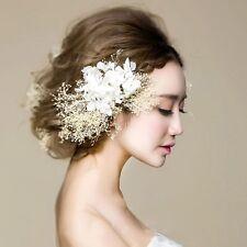 Bridal Fancy Preserved Fresh Flower Headpiece Wedding Hair Accessory Handmade